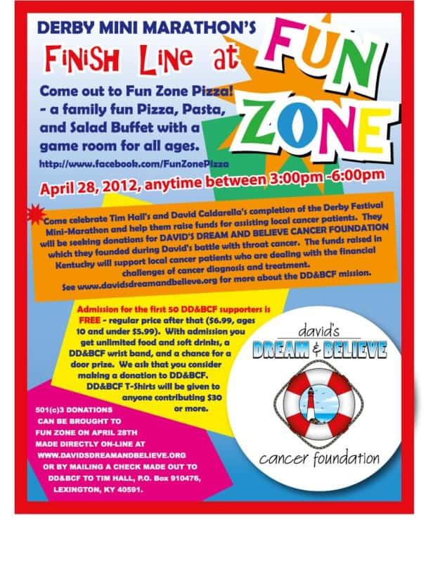 Derby Mini Marathon's Finish Line @ Fun Zone