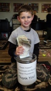 Matthew with Donations