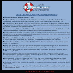 2014 Dream & Believe Accomplishments