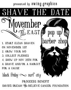 Movember: Shave the Date